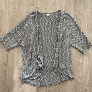 LuLaRoe Open Waterfall Cardigan Sweater Large Gray